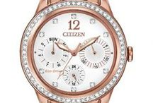 Citizen Loves Pink Gold! / Citizen introduces its new line of pink gold-tone stainless steel watches in Fall 2014. The radiant color of the new pink gold is sure to make a statement and stand out from the crowd.