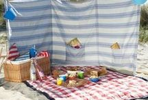WINDBREAKS / for the beach and picnics and to sit on at the beach.