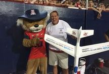 FlyTucson Take Off Challenge / As official sponsors of University of Arizona Football, we have an in-game, on-field promotion each home game. One lucky contestant wins a $500 airline voucher for launching their plane the furthest.
