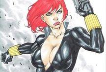 Black Widow / Black Widow comic art