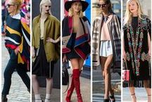 Trend Alert: Ponchos / Resurgence of the old trend( cropped and fringed ponchos) in an even better way( longer, cape-like)