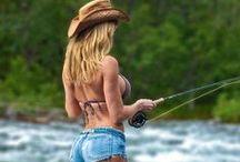 fishing girls / fishing
