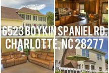 (Update - SOLD)South Charlotte NC Home For Sale - 6523 Boykin Spaniel Rd. Charlotte NC 28277 / SOLD. Located in South Charlotte NC near Ballantyne. This is the perfect balance, private living located close to many conveniences such as dining and shopping. Well cared for inviting home in established and sought after neighborhood in Quail Acres. Dual Stairs with large bonus room that could also be 5th bedroom. Powder room updated with ceramic tile and granite. This home has awesome curb appeal & is situated in a cul-de-sac w/large deck & expansive flat fenced-in private yard.