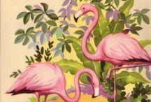 Vintage-agtigt / sommerfugle, blomster, inspiration til....