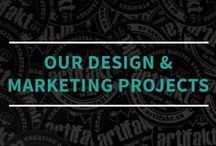 Our Design & Marketing Projects / These are some design and marketing deliverable projects that we've worked on for some of our clients and ourselves.