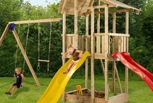 Blue Rabbit Wooden Climbing Fames / Blue Rabbit wooden climbing frames for children. More Blue Rabbit climbing frames at www.wooden-climbing-frames.com