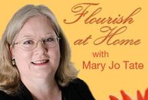 Flourish at Home / Are you exhausted? Overloaded? Teetering on the brink of burnout? Whether you're a stay-at-home mom, work-at-home mom, or homeschooling mom, it's easy to be paralyzed by an overwhelming to-do list. False guilt only adds to the burden. Join Mary Jo on the first Tuesday of every month at 9:00 p.m. ET (beginning in November) for encouragement, inspiration, and practical strategies to help you flourish at home! http://ultimateradioshow.com/show-hosts/flourish-at-home/