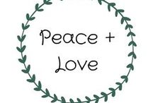 Peace and Love / Full of peace, love and positive images and quotes. You'll find plenty of life inspiration for peace around the world on this board.