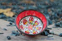 Keramikschale-Mediterran-Türkei-Turkish Ceramics / Handgearbeitete Keramikschalen Mediterran mit kultig eingearbeiteten farbigen Akzenten. Die Oberfläche ist glatt mit einheitlich verspielten Motiven.