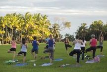 Get your YOGA on!  / Coconut Grove is a place where your body, mind and spirit can find refreshment almost anywhere.    FREE Yoga in Peacock Park | Tuesdays from 6pm - 7pm | Coconut Grove | Miami | Instructor provided by Dharma Studio |