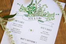 Farm wedding stationery
