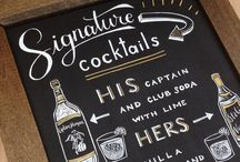 Hen party cocktail board