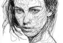 Face- and body drawings / Inspirasjon tegninger