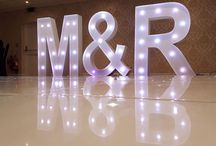 We hire Led Light Up Letters. / We hire our range of Innovents Illuminated led LOVE, Heart, Initials, Funky DANCE and Marquee letters in the Berkshire, Hampshire, Surrey area.