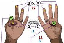 belajar / berhitung dengan jari tangan