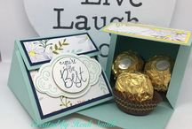 Stampin' Up! Ferrero Friday projects on my blog / Projects scaled to fit one (or more) Ferrero Rocher chocolates using Stampin' Up! Products from UK Demonstrator Heidi Smith Flutterbyheidi