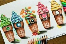 Sociaal media tekeningetjes