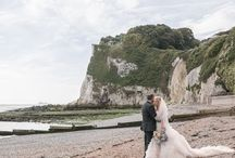 A Kent Coast Wedding - Sept 2016 / Travel theme, cornflower blue & blush, homemade wedding