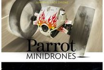 Parrot Drones / Parrot Drones and Minidrones -The next game is right before your eyes! Minidrones weave in and out to find their way anywhere, from the playground to open-plan offices. Equipped with the best technology, they can race, perform aerobatics, shoot missiles, and do much more. The only limit is your imagination!