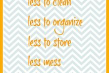 Organize / Physical & mental clutter clogs our lives. When we clear space in our homes & in our thoughts, we create an opening for goodness to enter, for new relationships, for the things we want to achieve,...