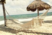 Hammocks at Boho Beach / Ahh the hammock...