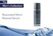 Vine Vera Resveratrol Men's Collection / The Resveratrol Men's Renewal Serum was developed for men in an effort to prevent post shaving related irritation.  In order for your skin to remain soft to the eyes and touch you must keep it well nourished.