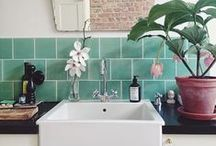 Bathroom Inspiration / Freshen up your bath! Room inspiration, organization and design tips.