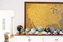 Map Decor / Add some graphic appeal and personal touch to your home by decorating with maps!