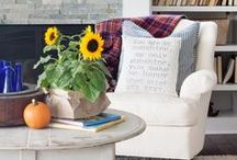 Fall Decor / Get your home ready for the new season! Decorate with flannel, wood & burlap, pumpkins and gourds.