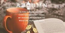 Autumn & Winter / After the heat of the summer, I look forward to the coolness of autumn and the changing of the fall foliage. We enjoy a bountiful harvest from our vegetable garden and as the days draw in towards winter we find time in the nights for some lovely projects.