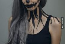Halloween make up and decorations