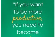 Be Productive / There's a notable distinction between being busy and being productive and this collection of articles, infographics and quotes will inspire you to be more productive in the workplace. Browse these pins shared by Actionspace to discover how you can increase your productivity.  www.actionspace.com