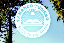 Tamanco Tubismo / Join the new outdoor movement! Step out of the inner city dwellings and into our Tamanco Tube. 8 Tubes, made of reclaimed materials, hidden in the midst of a rich vegetation.
