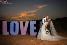 Algarve Wedding Letters / We Just love it when out couples hire out the 4ft Wedding letters, because these are the sort of images we can get....