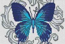 Hama/cross stitch butterflies