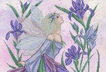 Hama/cross stitch fairies and angels