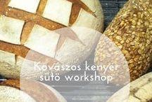Kovászos kenyér sütő workshop / Kenyérsütés alapjainak elsajátitása, hogy minden résztvevő otthon is képes legyen elkésziteni egyszerűen és gyorsan az asztalra kerülő, kovászos kenyeret.Mivel hiszünk abban, hogy a házi készitésű kenyérnél nincs finomabb és laktatóbb dolog a világon:) A workshop  alapvetően gyakorlati részre épül, melyet úgy épitettünk fel, hogy a kovászos kenyér készités minden lépését kipróbálhassa a résztvevő.