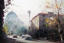 Dušan Djukarić watercolour
