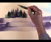 Watercolour Techniques, Tutorials, Intsruments
