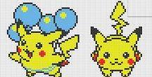 Hama/cross stitch Pokemon