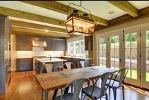 East Hampton English Cottage / This 3223 square foot Yankee Barn is located in East Hampton, NY. Not only are the first and second levels spectacular, the lower level has a fully finished guest suite, as well.