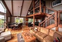 Moose Ridge Lodge / Moose Ridge Lodge, a post and beam barn structure by Yankee Barn Homes is a smaller mountain style home that serves as a vacation home for a fun-loving family. The three bedroom, three bath house comes in at 1657 square feet.