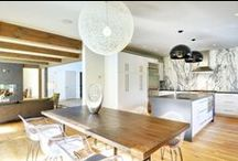 Oyster Shores Barn Home / Oyster Shores is 3200 sq ft of contemporary style barn house with iconic barn exteriors and a fresh interior which utilizes clean lines. Designed by Jeffrey Rosen, Creative Director for Yankee Barn Homes, the barn is located in East Hampton, NY.