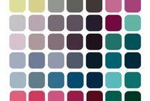 Färganalys / Färger enligt mitt färgschema, cool summer.