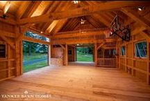 Sutton Barn / The Sutton Barn is a 24 x 36 custom design specialty barn from Yankee Barn Homes. Created to be a working barn, it also accommodates family play time - note the basketball hoop!