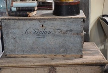 old suitcases and trunks