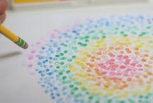 Mamaliefde ❤ Creativity (Creatief) / Overzichtsbord met pinterest inspiratie voor creatieve aangelegenheden als onderdeel van de ontwikkeling of het onderwijs, op een leuke spelende wijze.