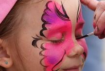 Mamaliefde ❤ Face paint (schmink) / Overzichtsbord met pinterest inspiratie voor schmink als onderdeel van de ontwikkeling of het onderwijs, op een leuke spelende wijze.