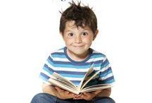Mamaliefde ❤ Reading (lezen) / Overzichtsbord met pinterest inspiratie voor het leren lezen als onderdeel van de ontwikkeling of het onderwijs, op een leuke spelende wijze.