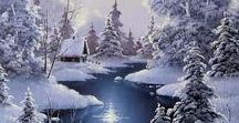 winter, snow